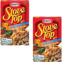 (2 Pack) Kraft Stove Top Low-Sodium Chicken Stuffing Mix, 6 oz Box