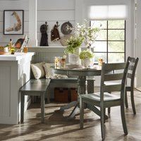 Weston Home Lexington 5-Piece Breakfast Nook Dining Set, Round Table, Multiple Colors