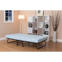 """DHP Folding Guest Bed Frame with 5"""" Mattress, Twin Size"""
