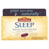 Nature Made Natural Sleep Aid Liquid Softgels, 30 Ct