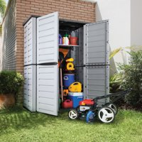 Rimax Casual Grey/black Tall Garden Shed