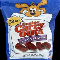Canine Carry Outs Bacon Flavor Dog Snacks, 50-Ounce