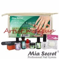MIA SECRET CLEAR ACRYLIC & GEL UV POWDER NAIL PREP PRIMER GLOSS GLUE KIT - USA