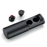 True Wireless Earbuds Stereo Bluetooth Headphones with Charging Case. Premium Sound - Secure Fit - Easy to Pair