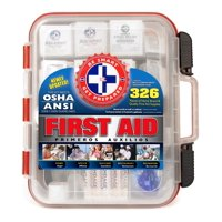 Be Smart Get Prepared - First Aid Kit Hard Case, Passes OSHA and ANSI, 326 Piece