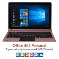 "Direkt-Tek 11.6"" FHD Tablet with Keyboard, Windows 10, Office 365 Personal 1-Year Subscription Included ($69.99 Value), Windows Hello (Fingerprint Reader), Windows Ink (Smart Stylus included)"