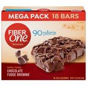 Fiber One 90 Calorie Chocolate Fudge Brownie Mega Pack 18  Bars 16 oz