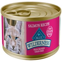 Blue Buffalo Wilderness High Protein Grain Free, Natural Adult Pate Wet Cat Food, Salmon, 5.5-oz cans, Case of 24