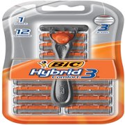 Bic Hybrid 3 Comfort Men's 3-Blade Disposable Razor, 1 Handle 12 Cartridges
