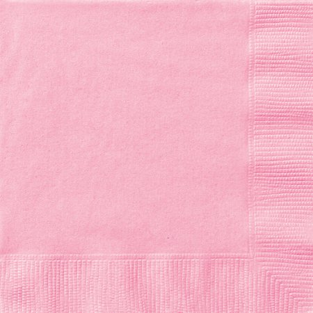 Monogrammed Cocktail Napkins - Paper Cocktail Napkins, 5 in, Light Pink, 20ct