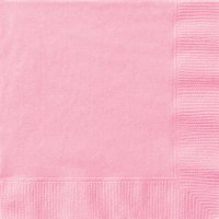 Paper Cocktail Napkins, 5 in, Light Pink, 20ct