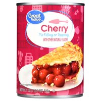 (3 Pack) Great Value Cherry Pie Filling or Topping, 21 oz