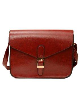 Product Image Crossbody Bag,Coofit Women s Retro Style Solid Color Faux  Leather Ladies Elegant Vintage Casual Messenger 41da222b77