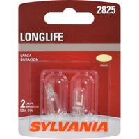 SYLVANIA 2825 Long Life Mini Bulb, Pack of 2