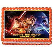 Star Wars Force Awakens Personalized Edible Cake Topper Image 1 4 Sheet