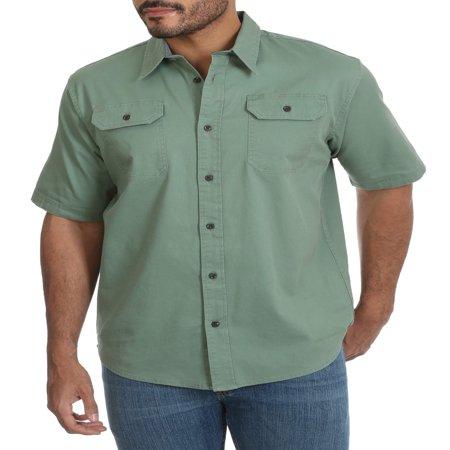 Wrangler Blue Twill Shirt (Wrangler Men's Short Sleeve Twill)