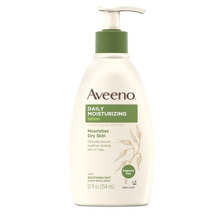 Aveeno Daily Moisturizing Lotion with Oat for Dry Skin, 12 fl. (Best Moisturizer For Dry Cracked Hands)