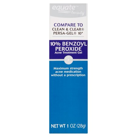 (2 Pack) Equate Beauty 10% Benzoyl Peroxide Acne Treatment Gel, 1 Oz