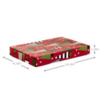 Hallmark Christmas Gift Box Assortment, Patterned Shirt Boxes with Lids for Wrapping Gifts (Pack of 12)