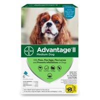 Advantage II Flea Treatment for Medium Dogs, 6 Monthly Treatments