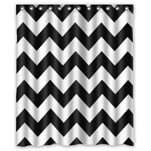 chevron shower curtains Navy Blue and Gray Chevron Background greendecor chevron black white waterproof shower curtain set with hooks bathroom accessories size 60x72 inches