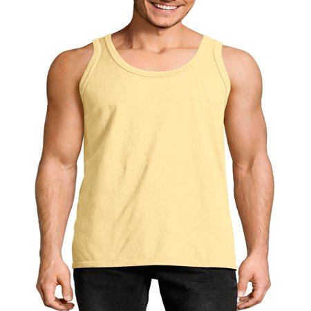 Hanes Big men's comfortwash garment dyed sleeveless tank top