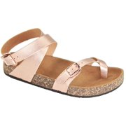 1549350db Glory-610 Women Sandals Shoes Gladiator Thong Flops T Strap Flip Flat  Strappy Toe Rose