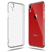 iPhone XR Clear Transparent TPU Case Soft Cover with Smudge-free Technology