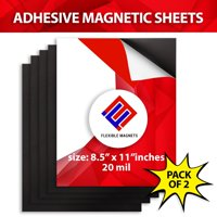 Self Adhesive Magnetic Sheets, All Sizes & Pack Quantity for Photos & Crafts,  By Flexible Magnets- 8.5x11 20 mil - 2 pack