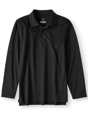 Boys School Uniform Long Sleeve Performance Polo