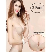5d4e8ca257  2 Pack Push-up Bra Wing Shape Gel Strapless
