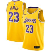 b56cceea84c LeBron James Los Angeles Lakers Nike 2018 19 Swingman Jersey Gold - Icon  Edition