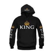 cd3c63d5737 Valentine´s Day King and Queen Matching Couple Sweatshirts Hoodie Lovers  Matching His and Her