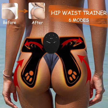 6 Modes 4 Pads EMS Hip Trainer Waist Fat Burning Muscle Training Sexy Buttocks Summer Butt Lifting Body Shapers - Foam Buttocks