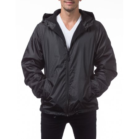 Pro Club Men's Fleece Lined Windbreaker Jacket, Small, Black Adidas Black Storm Jacket