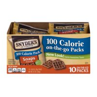 (3 Pack) Snyder's Of Hanover Pretzels Snaps 100 Calorie Packs, 0.92 Oz, 10 Ct