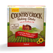 Country Crock Salted Baking Sticks Made with Sunflower Oil, 16 Oz.