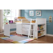d816b7724d Leo Loft Bunk Bed with Drawer Chest, Tiers Book Shelf and Rolling Desk with  shelf