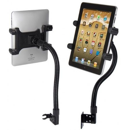Digitl Tablet Car Mount Seat Bolt SUV Holder for Polaroid M10 Tablets w/Anti-Vibration Goose Neck (with or without case)