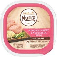 (24 Pack) NUTRO Wet Dog Food Cuts in Gravy Roasted Turkey & Vegetable Stew, 3.5 oz. Tray