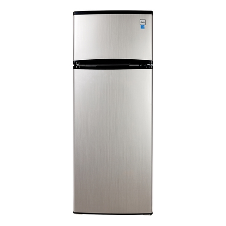 Avanti 7.4 Cu. Ft Top Freezer Apartment Refrigerator in Black/Platinum ()