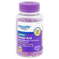 Equate NightTime Sleep-Aid Caplets, 25 mg, 365 count