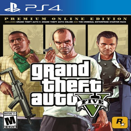 Grand Theft Auto V: Premium Online Edition, Rockstar Games, PlayStation 4, (Top Playstation 2 Games Of All Time)