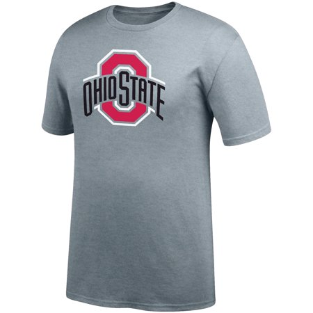 Men's Gray Ohio State Buckeyes Primary Logo T-Shirt