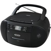 Jensen CD-545 Stereo CD Player Cassette Recorder and AM/FM Radio, Includes 24 C Batteries
