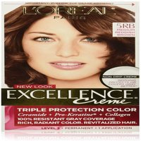 L'Oreal Paris Excellence Creme Triple Protection  Haircolor, Medium Reddish Brown [5RB] 1 ea
