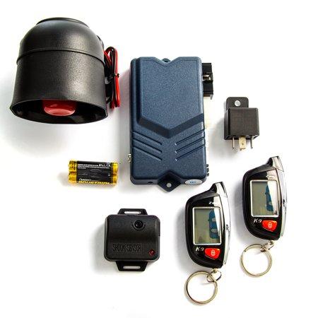 2-Way Car Alarm Security Alarm with LCD Status Display and Remote Engine Start for Chevy Camaro Van Cavalier Chevette Cobalt Kodiak - image 2 de 5