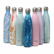 MIRA Vacuum Insulated Travel Water Bottle | Leak-proof Double Walled Stainless Steel Cola Shape Sports Water Bottle | No Sweating, Keeps Your Drink Hot & Cold | 25 Oz (750 ml) | Dynamic Blue
