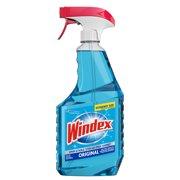 (2 pack) Windex Glass Cleaner Trigger Bottle, Original Blue, 32 fl oz
