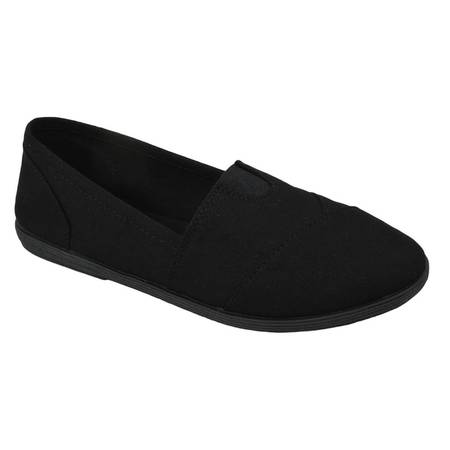 Soda Flat Women Shoes Linen Canvas Slip On Loafers Memory Foam Gel Insoles OBJI-S All Black 5.5 - Disney Snow White Shoes